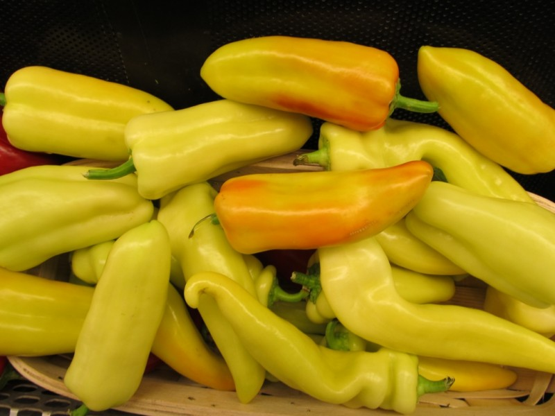 Indiana grown banana peppers