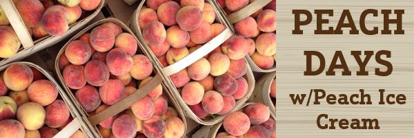 peach fest indianapolis with peach ice cream