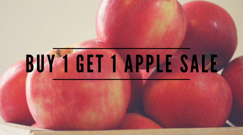 buy 1 get 1 free apple sale